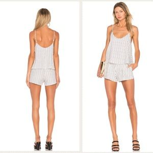 NWT XL NBD Flowy shorts striped romper Extra Large